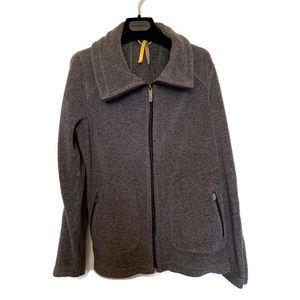 Lole Fleece Jacket Full Zipper Grey Size Large
